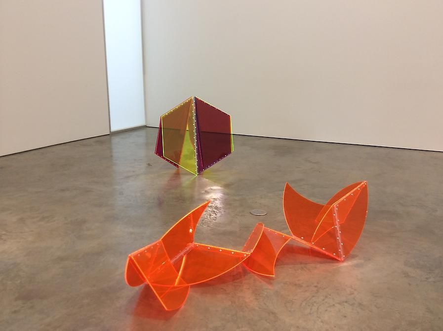 Installation view of Marta Chilindrónand Graciela Hasper exhibition,Dialogues,2014 at Sicardi Gallery.