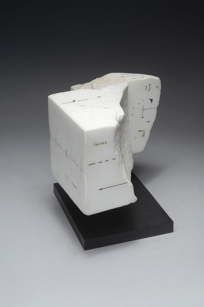 Untitled, 1984, Drawing on marble, 4 1/8 x 6 7/8 x 6 1/16 in. (10.5 x 17.5 x 15.5 cm.)