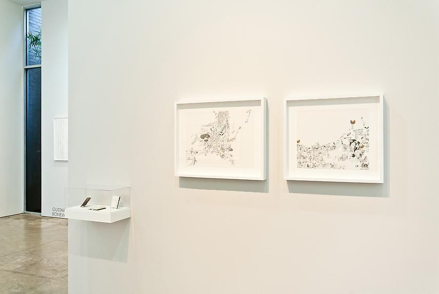 Marked Pages III, Ricardo Lanzarini, Sicardi Gallery installation view, 2011