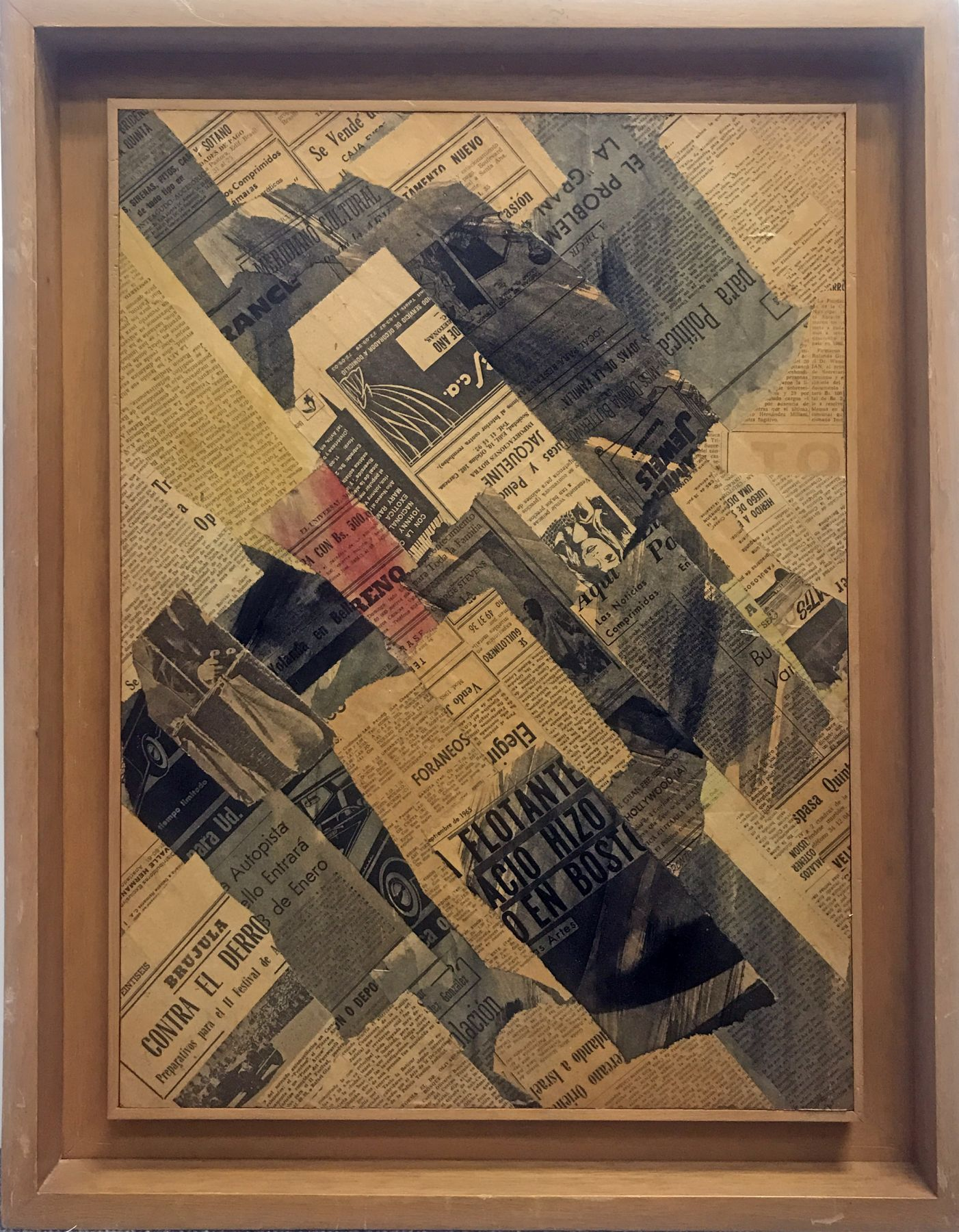 Alejandro Otero, Untitled, c. 1960,Glued papers on wood,25 15/16 x 21 5/8 in. (66 x 55 cm.)