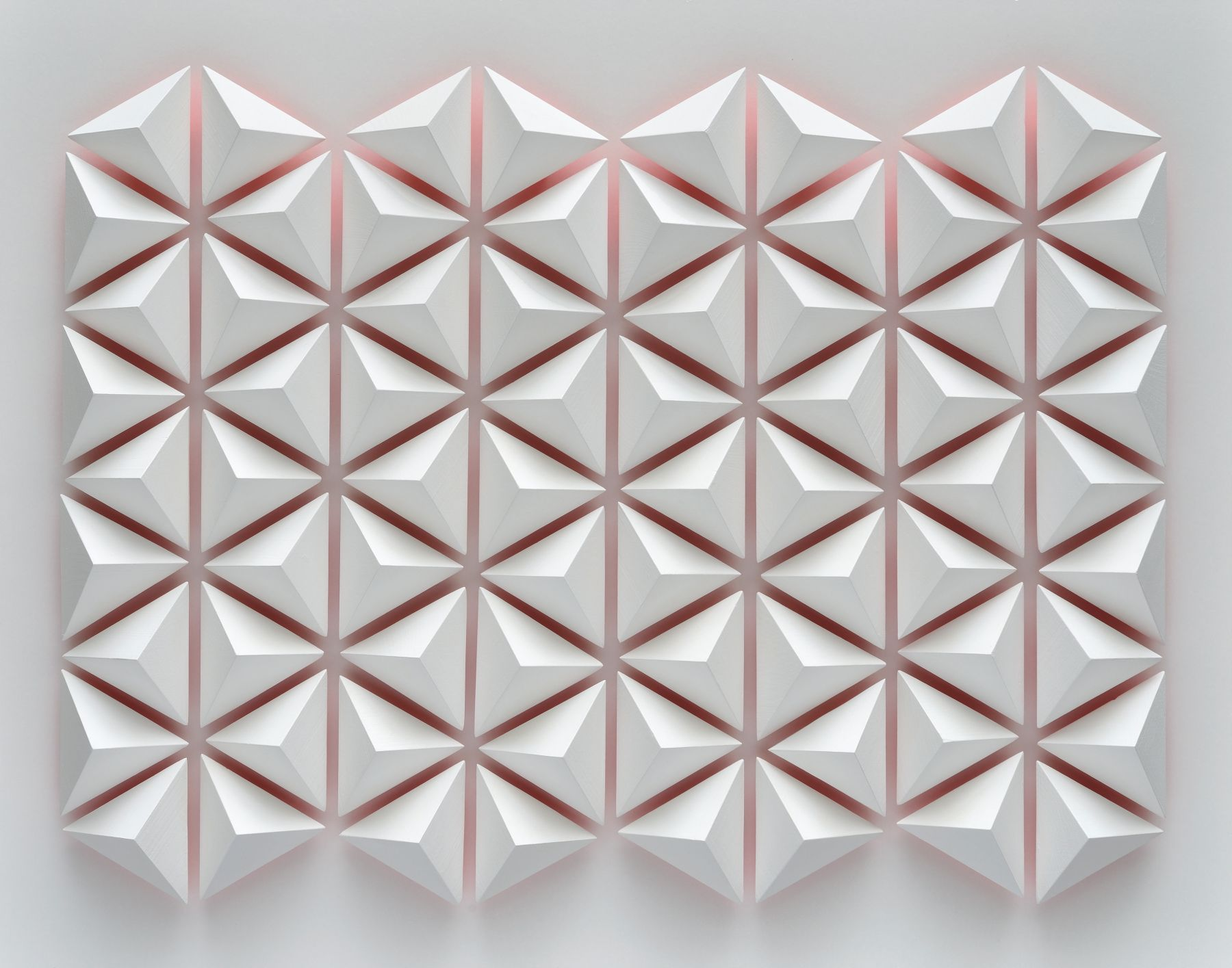 Luis Tomasello, Atmosphère chromoplastique No. 1014, 2012. Acrylic on wood, 26 3/8 x 33 1/2 x 4 in.