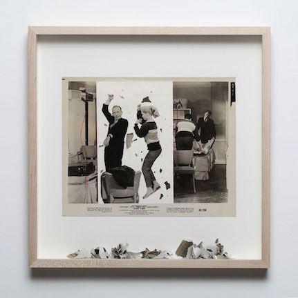 Gabriel de la Mora(b. 1968, Mexico). High Time. 2012. Scratched photograph (1960). 13 7/8 x 13 7/8 x 1 3/4 in. / 35.2 x 35.2 x 4.5 cm.