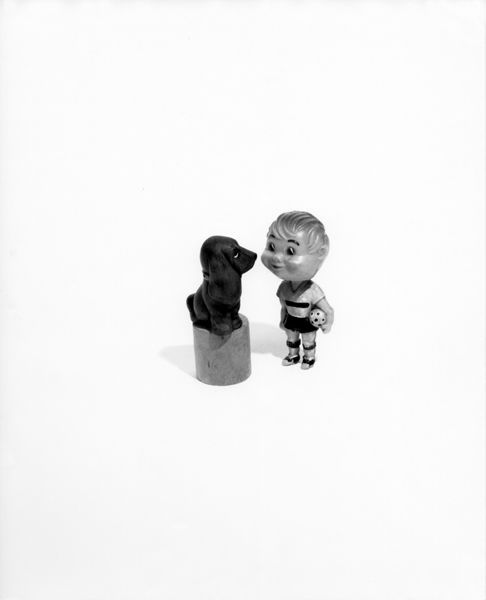 Liliana Porter. Untitled with Football Player,1995.Silver gelatin print,20x 16 in.