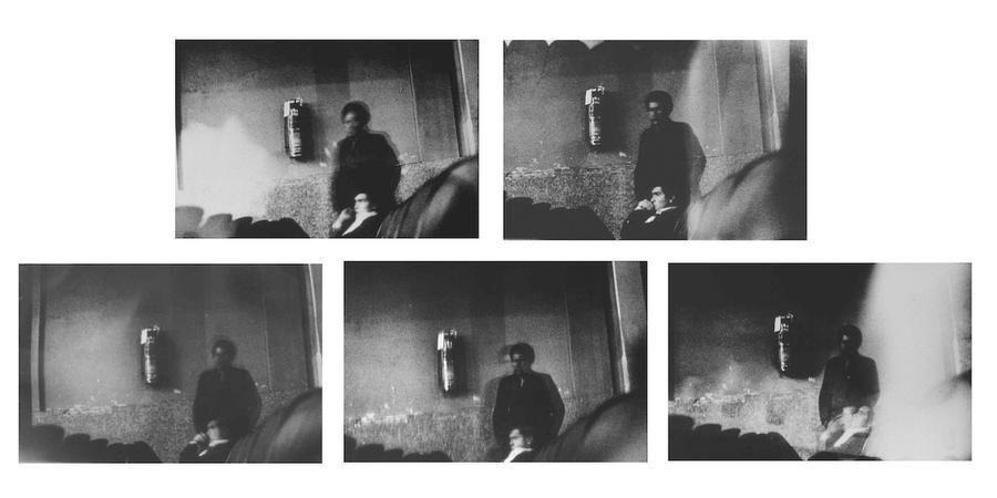 Miguel Ángel Rojas, Serie Faenza: Tres en platea, 1979, Silver Gelatin on aluminum, 32 1/4 x 48 in. / 82 x 122 cm.
