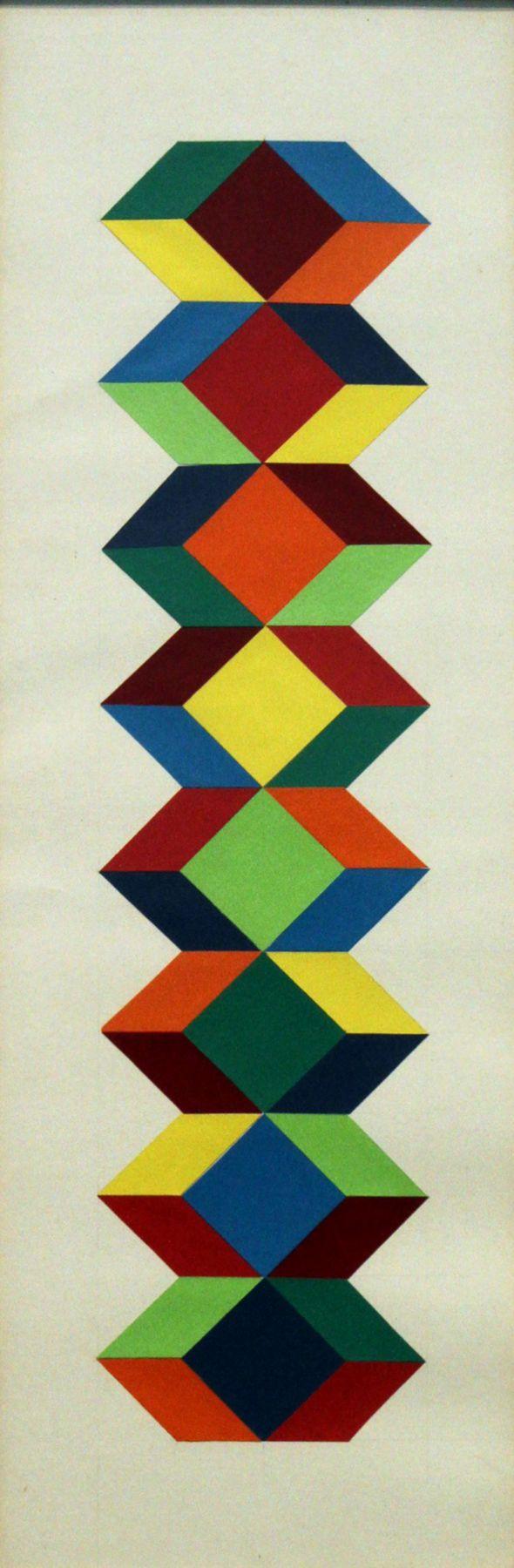 Francisco Sobrino,Untitled, 2003, collage,11 1/4 x 5 3/4 in. (28.6 x 14.5 cm.)