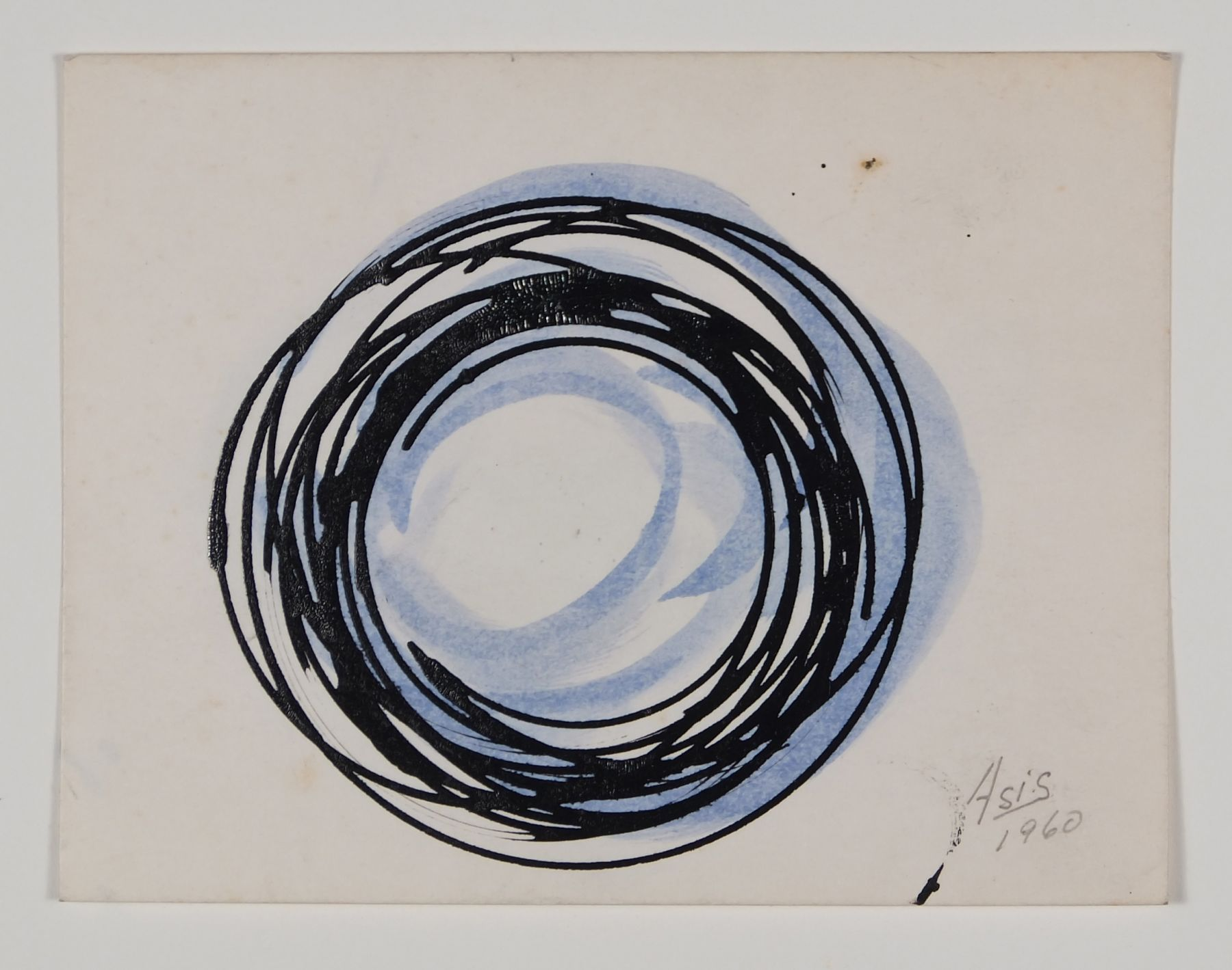 Antonio Asis, Untitled, 1960,Gouache and ink on paper,3 1/2 x 4 9/16 in. (8.9 x 11.7 cm.)