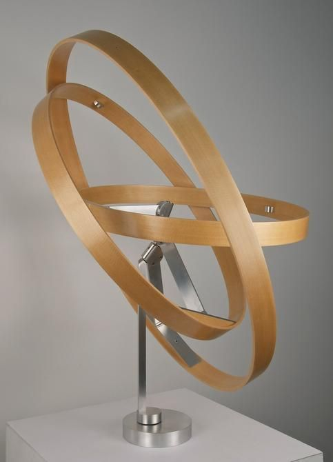 Pedro S. de Movellán, Tours en L'Air (V.2), 2014, Sitka spruce, brushed aluminum, stainless steel