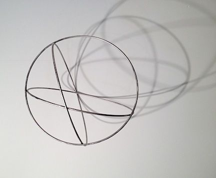 "Sérvulo Esmeraldo, Volume Edition of 3, 2009/2013. Stainless Steel, 26"" ø"