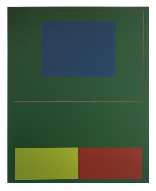 Antonio Lizárraga, Bridge, 2007. German pigments on canvas, 39 3/8 x 31 1/2 in.