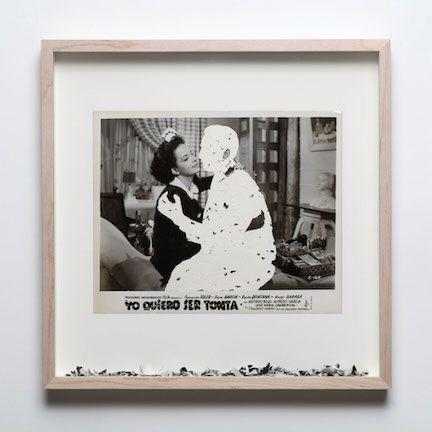 Gabriel de la Mora (b. 1968, Mexico). Yo quiero ser tonta E-160. 2012. Scratched photograph (1950). 13 7/8 x 13 7/8 x 1 3/4 in. / 35.2 x 35.2 x 4.5 cm.