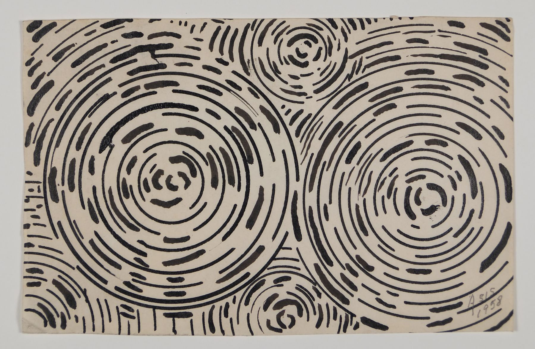 Antonio Asis, Untitled, 1958, Ink on paper,3 1/2 x 5 1/2 in. (8.9 x 14 cm.)