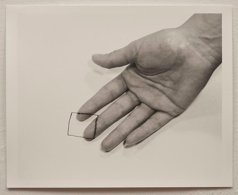 Liliana Porter, The Square IV, 1973. Gelatin silver photograph, 8 1/2 in. x 11 in.