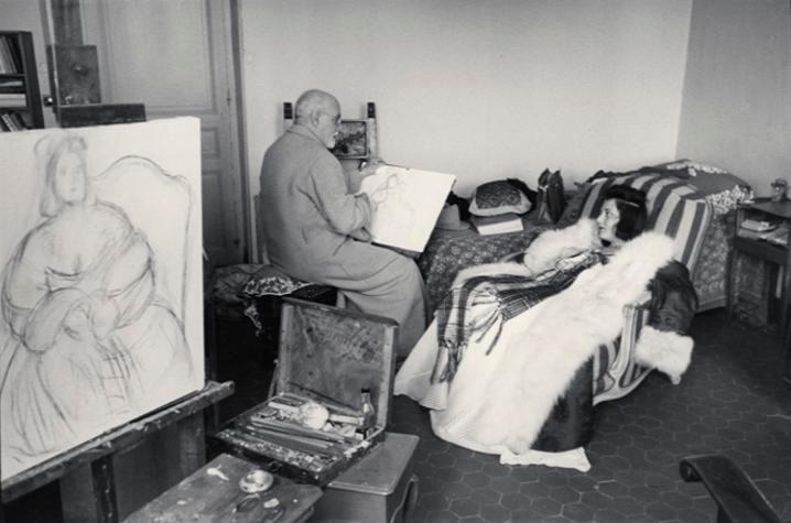 Henri Cartier-Bresson, Henri Matisse. Vence. France. 1944.