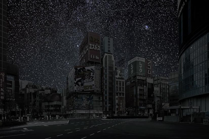 Tokyo 35° 41' 36'' N 2011-11-16 lst 23:16, 	39 x 60 inch pigment print - Edition of 3