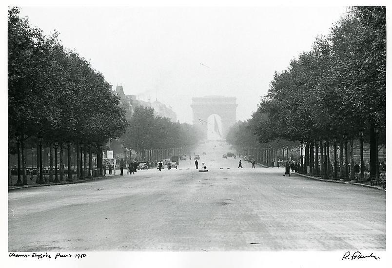 Champs-Elysee. Paris. 1950.