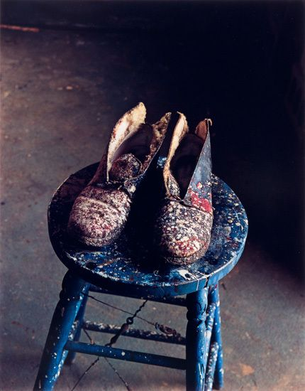 Lee Krasner's Shoes, Pollock Studio, Long Island, 1988