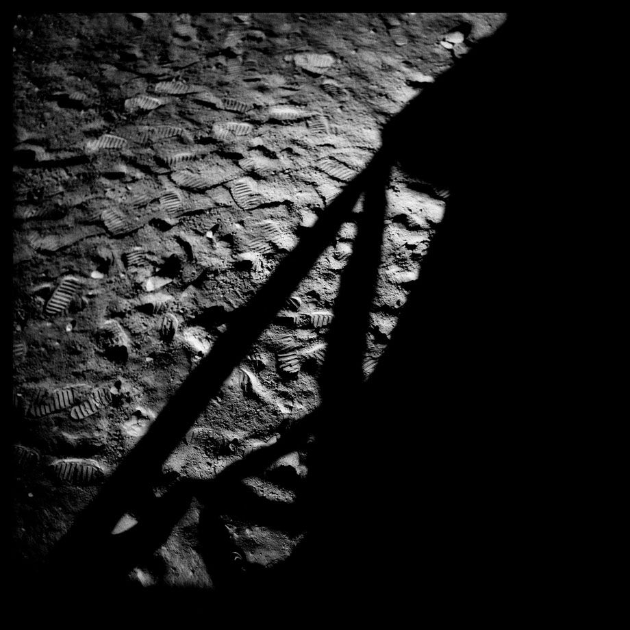 097 Lunar Module Shadow and Footprints at the