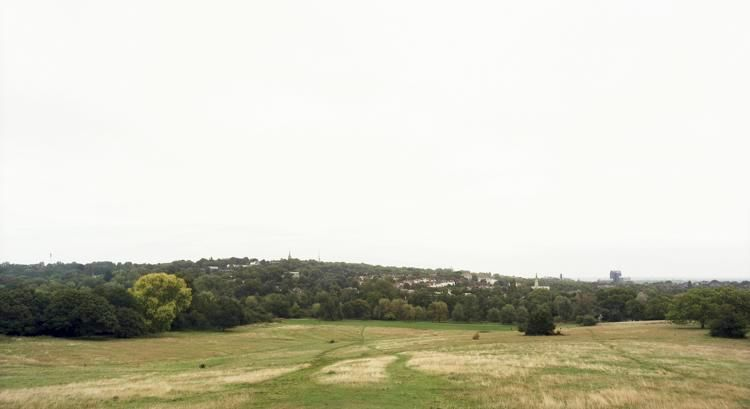 "Hampstead Heath, London, From the series Horizons, 2008, 	12 x 22"" C-Print"