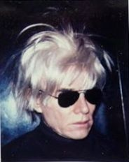 Andy Warhol. Self-portrait in fright wig.
