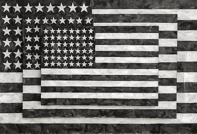 Three Flags, 8x10 Silver Gelatin Print