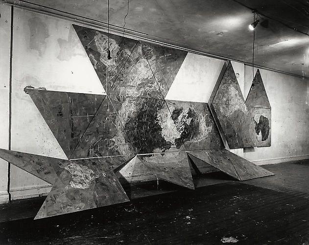 Map (Based on Buckminster Fuller's Dymaxion Airocean World), 8x10 inch Silver Gelatin Print