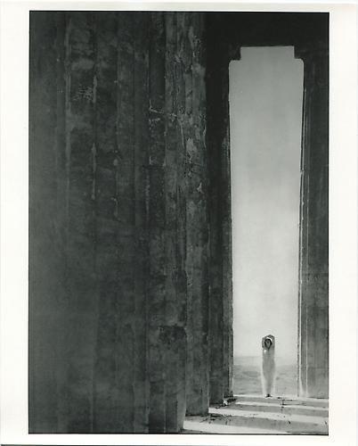 Edward Steichen. Isadora Duncan at the Columns of the Parthenon, Athens. 1921.