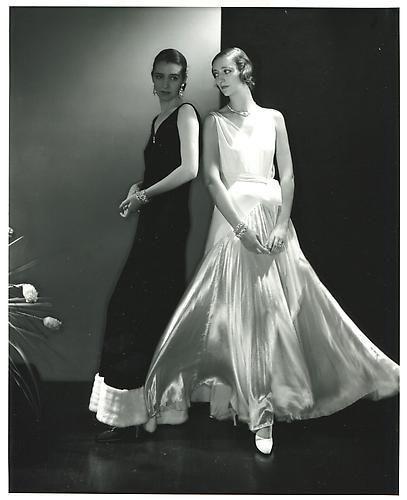 Edward Steichen. Vogue Fashion Evening Gowns. 1930.