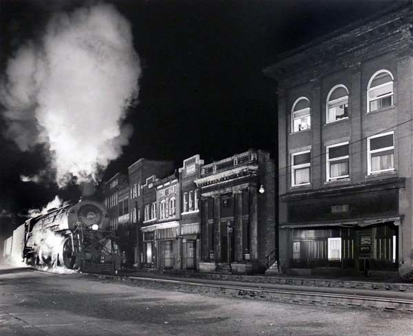 Main Line on Main St., North Fork, WV, 1958