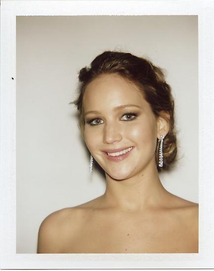 "Jennifer Lawrence, 2013, 3.5"" x 4.25"""
