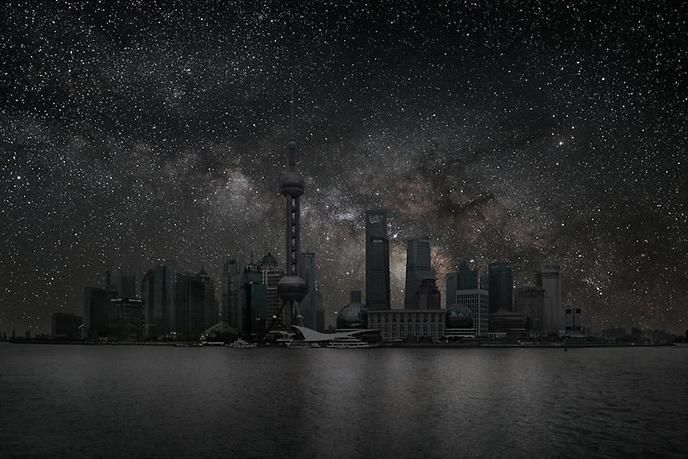 Thierry Cohen, Shanghai 31° 14' 39'' N 2012-03-19 lst 14:42