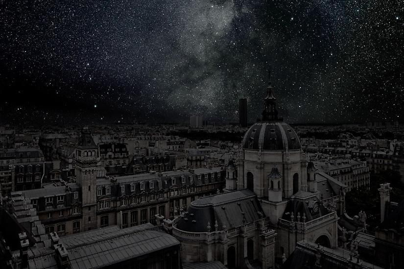 Paris 48° 50' 55'' N 2012-08-13 lst 22:15, 	39 x 60 inch pigment print - Edition of 3