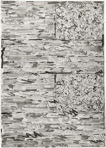 Study for 2 Flags, Rudolph Burckhardt, 8x10 inch Silver Gelatin Print