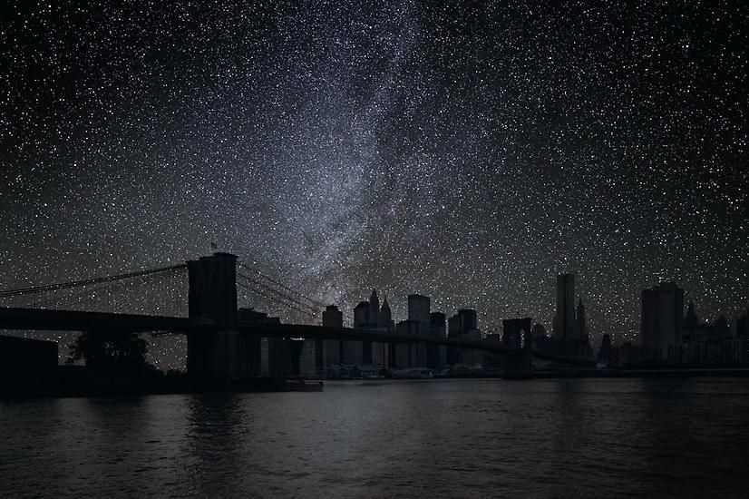 New York 40° 42' 16'' N 2010-10-09 lst 3:40, 39 x 60 inch pigment print - Edition of 3