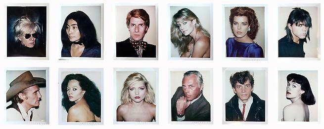 Andy Warhol. Unique 4.25 x 3.5 inch Polaroids.