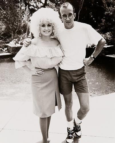 Keith Haring and Dolly Parton, 1985.