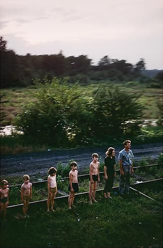 Paul Fusco. Untitled from RFK Funeral Train (family in descending order). 1968/printed in 2010.