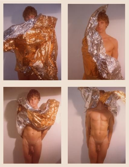 Robert (Candy Wrapper Series), 1977, 	Four 4.5 x 3.25 inch unique vintage Kodak prints