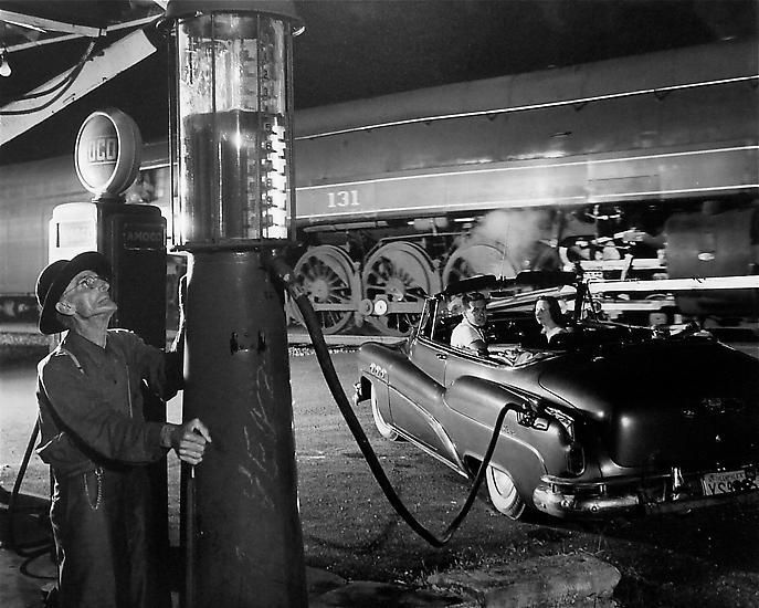 O. Winston Link , 	Sometimes the Electricity Fails, Virginia, 1956.