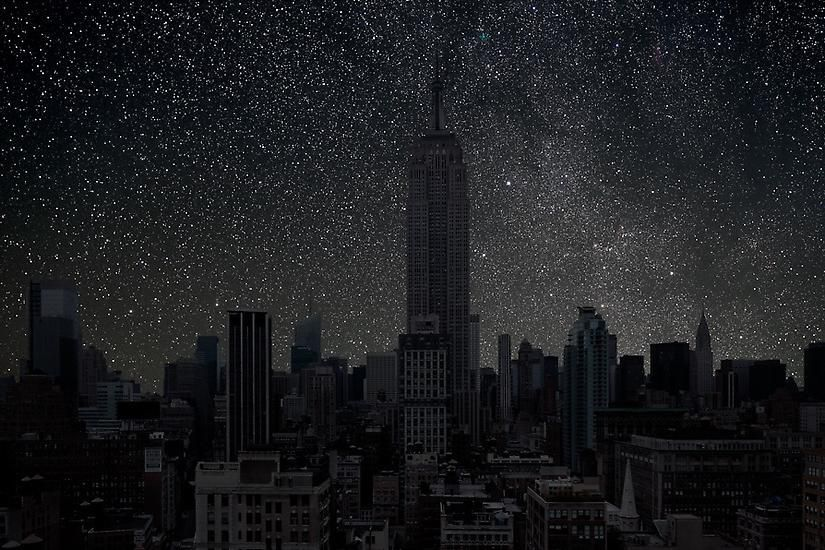 New York 40° 44' 39'' N 2010-10-13 lst 0:04, 39 x 60 inch pigment print -Edition of 3