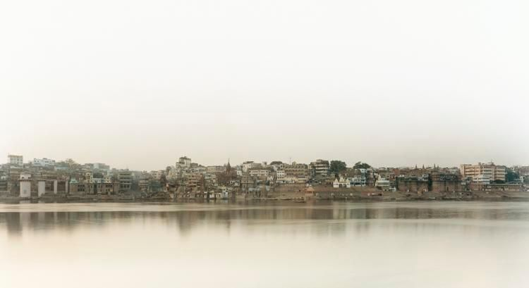 "Ganga (Ganges) I, Banaras, From the series Horizons, 2008, 	12 x 22"" C-Print"