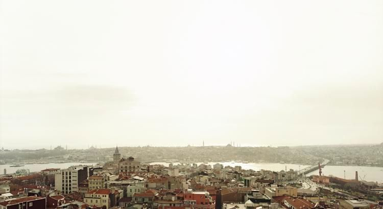 "Galata, Istanbul, From the series Horizons, 2007, 	12 x 22"" C-Print"