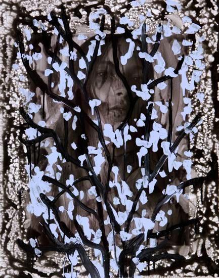 Untitled (Julia Bergshoeff by Josh Olins for The Last Magazine, Issue No. 14, Spring 2015), 2015, Acrylic, Urethane, and Magazine Page on Canvas