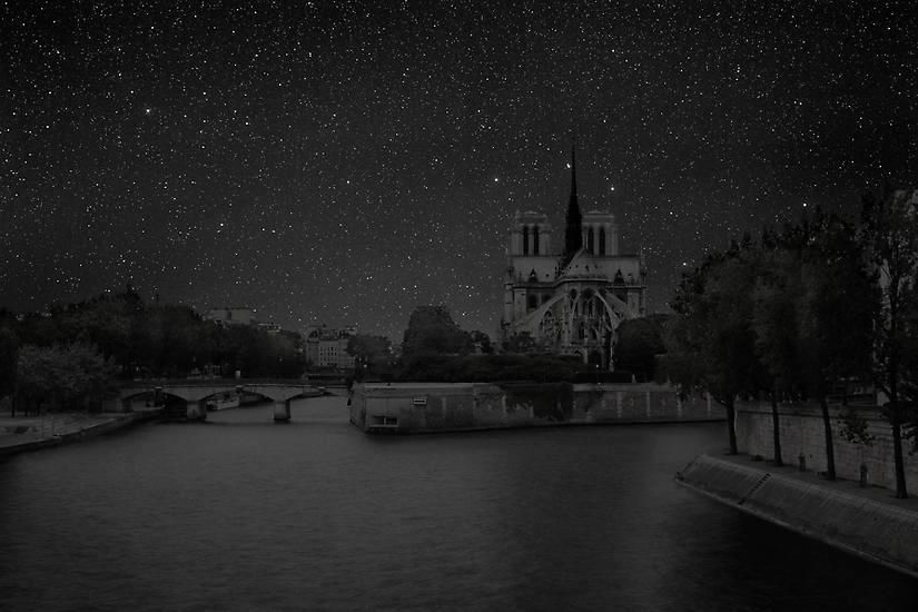 Paris 48° 51' 03'' N 2012-07-19 lst 19:46, 	39 x 60 inch pigment print - Edition of 3
