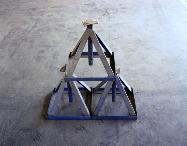 Blue Pyramid. 30 x 40 inches
