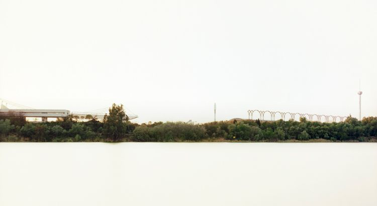 "Rio Guadalquivir, Sevilla, From the series Horizons, 2009, 	12 x 22"" C-Print"