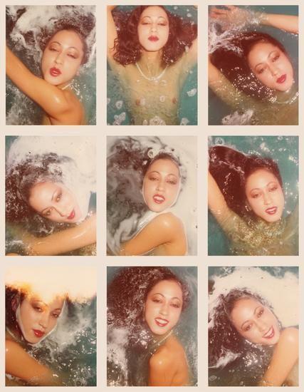 Pat Cleveland. 1975, Nine 4.5 x 3.25 inch unique vintage Kodak prints