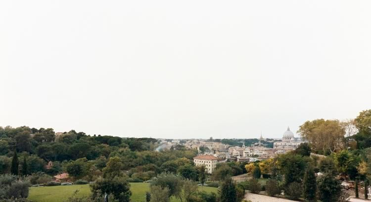 "San Pietro, Roma, From the series Horizons, 2007, 	12 x 22"" C-Print"
