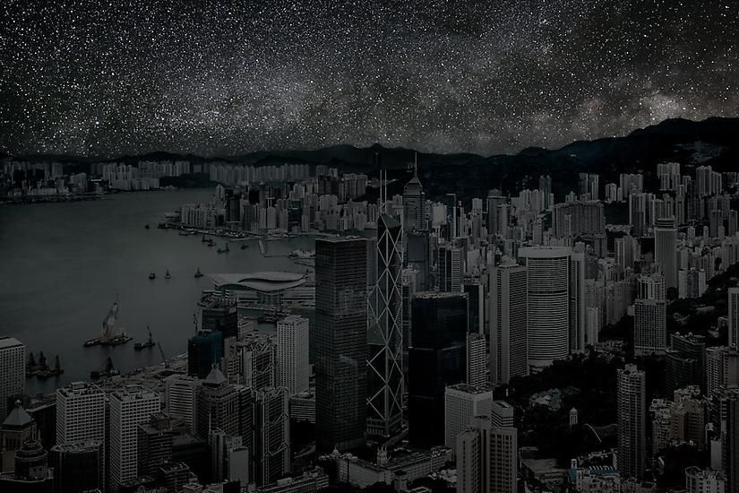 Hong Kong 22° 16' 38'' N 2012-03-22 lst 14:00, 39 x 60 inch pigment print -Edition of 3