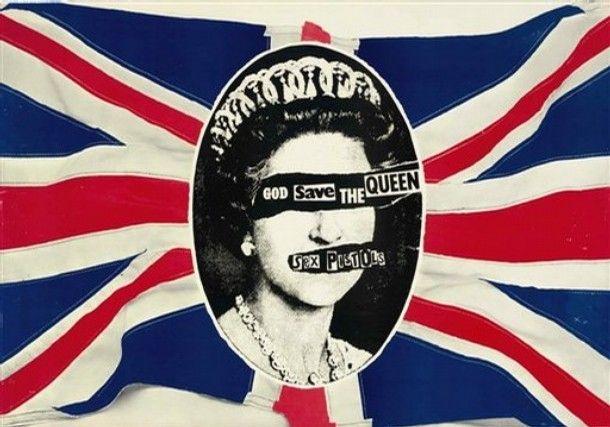 Jamie Reid. God Save the Queen, 1977.