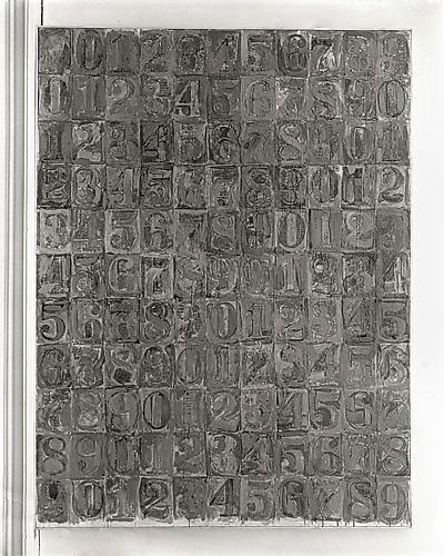 Grey Numbers, 8x10 inch Silver Gelatin Print